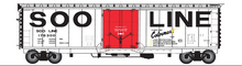 Atlas O SOO 50' plug door box car, 3 rail or 2 rail