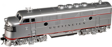 Atlas O Burlington (CB&Q  F-3 A-B-A,  3 rail, tmcc