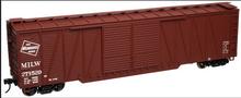 Atlas O MILW 50' single sheathed box car, 3 or 2 rail