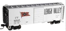 Atlas O (trainman) LV 40' Steel Box car, 3 rail or 2 rail
