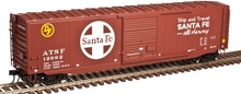 Atlas O Santa Fe (large logo)  50' single door door box car,  3 rail or 2 rail