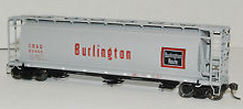 Atlas O Burlington (CB&Q) Cylindrical Cov Hopper, 3 or 2 rail