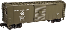 Atlas O (trainman) US Army 40' Steel Box car, 3 rail or 2 rail