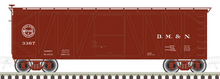 Atlas O DM&N 40' Single Sheathed (wood braced) Box Car
