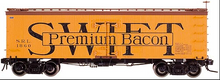 Atlas O  Swift premium bacon  36' wood reefer,  3 rail or 2 rail