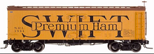 Atlas O  Swift premium ham  36' wood reefer,  3 rail or 2 rail