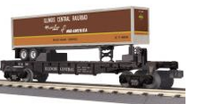 MTH Railking  Flat Car with IC Trailer, 3 rail