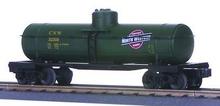 MTH Railking  CNW green Tank Car, 3 rail