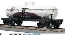 MTH Railking  PRR tuscan/white Tank Car, 3 rail