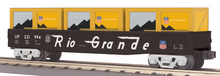 MTH Railking Rio Grande Gondola with crates, 3 rail