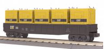 MTH Railking Caterpiller gondola with LCL containers, 3 rail