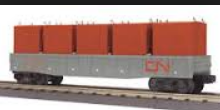 MTH Railking CN gondola with LCL containers, 3 rail