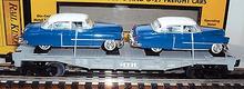 MTH Railking Flat Car with '52 cadillac's, 3 rail