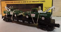 Totally unauthorized MTH Railking flat car with Sinclair Tow Trucks, 3 rail