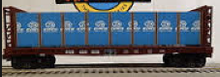 MTH Railking PRR bulkhead flat car with lumber load, 3 rail