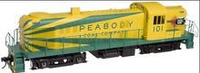 Atlas O Peabody RS-3, 3 rail, tmcc, cruise, smoke