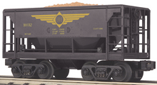 MTH Railking Erie Ore Car w/Load, 3 rail