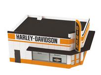 MTH 30-90266 O gauge Harley Davidson  1 story corner building w/ blinking sign