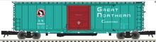 Pre-order Atlas O GN (green) 50' PS-1 single door door box car, 3 rail or 2 rail