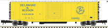Atlas O D&H (yellow scheme)  50' PS-1 single door door box car, 3 rail or 2 rail