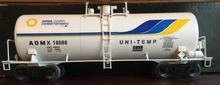 Weaver ADM (white) 40' tank car, 3 rail or 2 rail