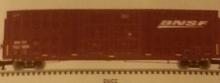 Atlas O BNSF (wedge logo)  60' Hy-cube  box car,  3 rail or 2 rail