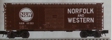 Pre-Order for Atlas O N&W (tuscan) 40' steel box  car