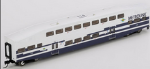 "K-line Metrolink (Los Angeles) 18"" Aluminum Bombardier 4 car commuter passenger car  set, 3 rail"