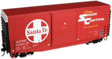 Atlas O Santa Fe 40' Hy-cube box car, 3 rail or 2 rail