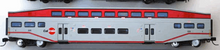 "K-line Caltrain  (SFO bay area) 21"" Aluminum Bombardier 4 car commuter passenger car  set, 3 rail"
