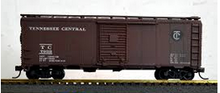 Weaver Tenessee Central  40' rivited steel side box car, 3 rail or 2 rail