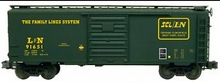 Weaver Family Lines (L&M) 40' PS-1 box car, 3 rail or 2 rail