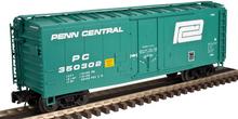 Atlas O Penn Central 40' plug door (bunkerless) reefer, 3 rail or 2 rail
