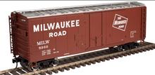Atlas O MILW 40' plug door (bunkerless) reefer, 3 rail or 2 rail