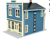 MTH 30-90275 O gauge Patterson & Co. Mining Bureau 2 Story Store Front Building
