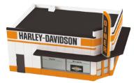 MTH 30-90266 O gauge Harley-Davidson Single Story Opposite Corner Store w/ Blinking sign