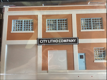 Walthers O Package of 2 false building fronts: City Litho Company/Black Rock Beverage