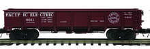 MTH special run Pacific Electric 55 Ton Steel Drop Bottom Gondola Car, 3 rail