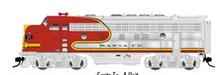 Atlas O Santa Fe F-7 A-B  powered diesels, 2 rail