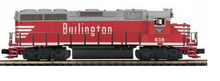 MTH Premier Burlington (CB&Q) GP-40  diesel, 3 rail, w/Sound and smoke