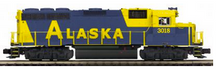 MTH Premier Alaska RR GP-40  diesel, 3 rail, w/Sound and smoke. proto 3.0