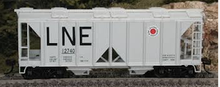 PDT exclusive Atlas O LNE ACF 34'  Covered Hopper  car, 3 rail or 2 rail