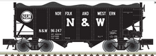 Pre-Order Atlas O N&W (1964 scheme)  2 Bay Fishbelly Hopper
