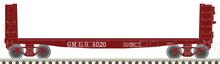 Pre-order  Atlas O GM&O 40' pulpwood flat car, 3 rail or 2 rail