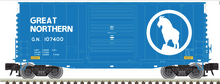 Pre-order for Atlas O Great Northern 40' Hy-cube  box car,  3 rail or 2 rail
