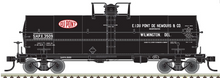 Pre-Order Atlas O  Dupont (black)  Chemical 11,000 gallon tank car, 3 rail or 2 rail