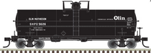 Pre-Order Atlas O  Olin Matheson  Chemical 11,000 gallon tank car, 3 rail or 2 rail