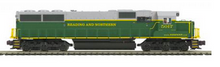 MTH Premier Reading and Northern SD-50  diesel, 2 rail, P3.0,  DCC, sound, cruise, exhaust