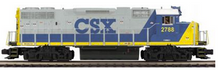 MTH Premier CSX GP-38  diesel, 2 rail, P3.0,  DCC, sound, cruise, exhaust