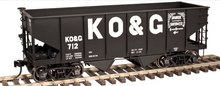 Atlas O KO&G USRA 2 bay hopper car